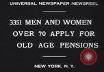 Image of old men and women New York United States USA, 1930, second 10 stock footage video 65675075496
