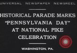 Image of parade Washington Pennsylvania USA, 1930, second 1 stock footage video 65675075498