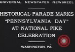 Image of parade Washington Pennsylvania USA, 1930, second 7 stock footage video 65675075498