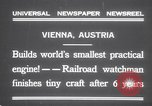 Image of smallest engine Vienna Austria, 1931, second 3 stock footage video 65675075502