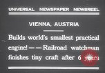 Image of smallest engine Vienna Austria, 1931, second 6 stock footage video 65675075502