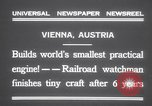 Image of smallest engine Vienna Austria, 1931, second 8 stock footage video 65675075502