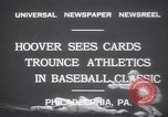 Image of President Herbert Hoover Philadelphia Pennsylvania USA, 1931, second 5 stock footage video 65675075506