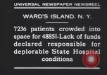Image of patients Wards Island New York USA, 1930, second 2 stock footage video 65675075510