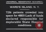 Image of patients Wards Island New York USA, 1930, second 3 stock footage video 65675075510