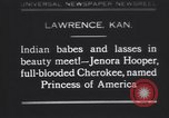 Image of Native American Indian baby named Princess of America Lawrence Kansas USA, 1930, second 1 stock footage video 65675075512