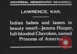 Image of Native American Indian baby named Princess of America Lawrence Kansas USA, 1930, second 2 stock footage video 65675075512