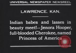Image of Native American Indian baby named Princess of America Lawrence Kansas USA, 1930, second 4 stock footage video 65675075512