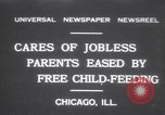 Image of free meals for children during great depression Chicago Illinois USA, 1931, second 1 stock footage video 65675075518