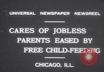 Image of free meals for children during great depression Chicago Illinois USA, 1931, second 2 stock footage video 65675075518