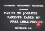 Image of free meals for children during great depression Chicago Illinois USA, 1931, second 3 stock footage video 65675075518