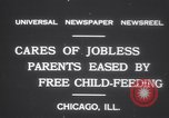 Image of free meals for children during great depression Chicago Illinois USA, 1931, second 8 stock footage video 65675075518