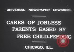 Image of free meals for children during great depression Chicago Illinois USA, 1931, second 9 stock footage video 65675075518