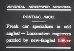 Image of Four wheel steering car Pontiac Michigan USA, 1931, second 2 stock footage video 65675075521