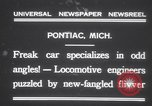 Image of Four wheel steering car Pontiac Michigan USA, 1931, second 3 stock footage video 65675075521