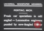 Image of Four wheel steering car Pontiac Michigan USA, 1931, second 8 stock footage video 65675075521