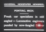 Image of Four wheel steering car Pontiac Michigan USA, 1931, second 10 stock footage video 65675075521