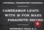 Image of parachutists Garden City New York USA, 1930, second 1 stock footage video 65675075536