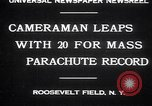 Image of parachutists Garden City New York USA, 1930, second 2 stock footage video 65675075536
