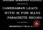 Image of parachutists Garden City New York USA, 1930, second 3 stock footage video 65675075536
