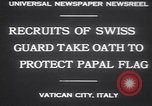 Image of Swiss Guards Vatican City Rome Italy, 1930, second 2 stock footage video 65675075537