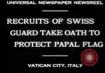Image of Swiss Guards Vatican City Rome Italy, 1930, second 3 stock footage video 65675075537