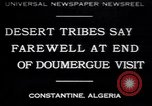 Image of Gaston Doumergue Constantine Algeria, 1930, second 1 stock footage video 65675075540