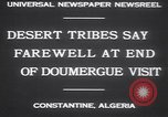 Image of Gaston Doumergue Constantine Algeria, 1930, second 2 stock footage video 65675075540