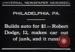 Image of Robert Dodge Philadelphia Pennsylvania USA, 1930, second 1 stock footage video 65675075543