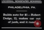 Image of Robert Dodge Philadelphia Pennsylvania USA, 1930, second 2 stock footage video 65675075543