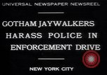 Image of jaywalkers New York City USA, 1930, second 1 stock footage video 65675075545