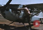 Image of O-1 Bird Dog liaison aircraft Bien Hoa Vietnam, 1970, second 5 stock footage video 65675075600