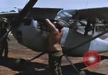 Image of O-1 Bird Dog liaison aircraft Bien Hoa Vietnam, 1970, second 10 stock footage video 65675075600