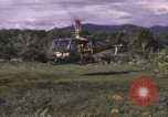 Image of UH-1F Iroquois helicopters Vietnam, 1968, second 4 stock footage video 65675075604