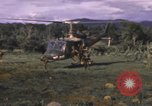 Image of UH-1F Iroquois helicopters Vietnam, 1968, second 8 stock footage video 65675075604