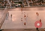 Image of handball game Munich Germany, 1972, second 8 stock footage video 65675075646