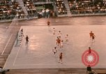 Image of handball game Munich Germany, 1972, second 9 stock footage video 65675075646