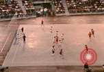 Image of handball game Munich Germany, 1972, second 10 stock footage video 65675075646