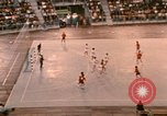 Image of handball game Munich Germany, 1972, second 11 stock footage video 65675075646