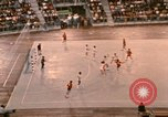 Image of handball game Munich Germany, 1972, second 12 stock footage video 65675075646