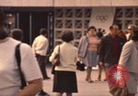 Image of Visitors strolling in Olympic Park Munich Germany, 1972, second 4 stock footage video 65675075653