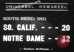 Image of USC versus Notre Dame football game South Bend Indiana USA, 1939, second 1 stock footage video 65675075702