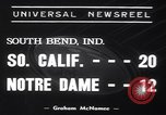 Image of USC versus Notre Dame football game South Bend Indiana USA, 1939, second 3 stock footage video 65675075702