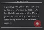 Image of Wilbur Wright's airplane Le Mans France, 1908, second 5 stock footage video 65675075714