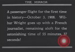 Image of Wilbur Wright's airplane Le Mans France, 1908, second 7 stock footage video 65675075714