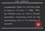 Image of Wilbur Wright's airplane Le Mans France, 1908, second 9 stock footage video 65675075714