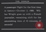 Image of Wilbur Wright's airplane Le Mans France, 1908, second 10 stock footage video 65675075714