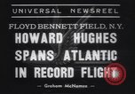 Image of Howard Hughes flight to Paris New York United States USA, 1938, second 2 stock footage video 65675075739