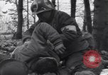 Image of Medic tends to wounded American  soldier Kollerschlag Germany, 1945, second 9 stock footage video 65675075891