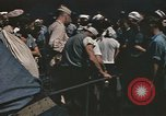Image of Japanese prisoners leave captured submarines Pacific Theater, 1945, second 6 stock footage video 65675075961